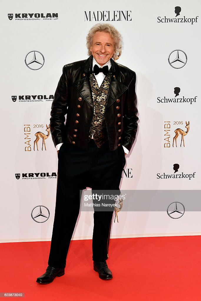 Thomas Gottschalk arrives at the Bambi Awards 2016 at Stage Theater on November 17, 2016 in Berlin, Germany.