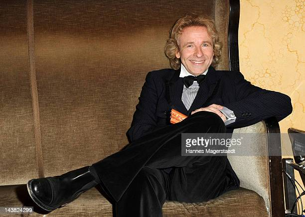 Thomas Gottschalk attends the 'Bayerischer Fernsehpreis 2012' at the Prinzregententheater on May 4 2012 in Munich Germany