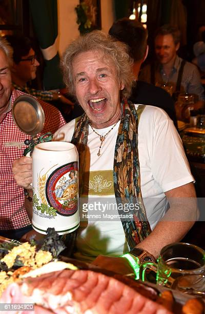 Thomas Gottschalk attends the 'Thomas and friends Wiesn' at the Marstall Festzelt during the Oktoberfest at Theresienwiese on September 30 2016 in...
