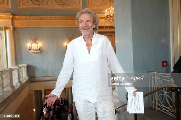 Thomas Gottschalk during the 'Oper fuer alle - Parsifal' as part of the Munich Opera Festival at Nationaltheater on July 8, 2018 in Munich, Germany.