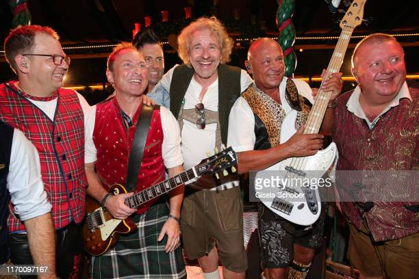 Thomas Gottschalk sings during the Oktoberfest 2019 opening at Marstall tent / Theresienwiese on September 21, 2019 in Munich, Germany.