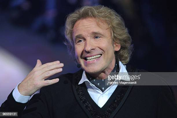 Thomas Gottschalk talks during the Touareg World Premiere at the Postpalast on February 10 2010 in Munich Germany