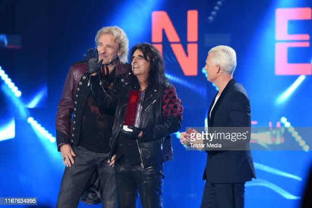 Thomas Gottschalk US singer Alice Cooper and Guido Cantz on stage during the SWR3 New Pop Festival Das Special on September 12 2019 in BadenBaden...