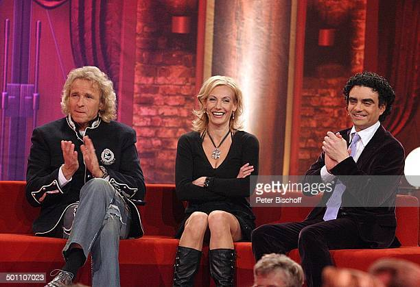 "Thomas Gottschalk , Ute Lemper, Rolando Villazon , ZDF-Casting-Show ""Musical-Showstar 2008"", Magic Media Company, Studio 32, Köln-Ossendorf,..."