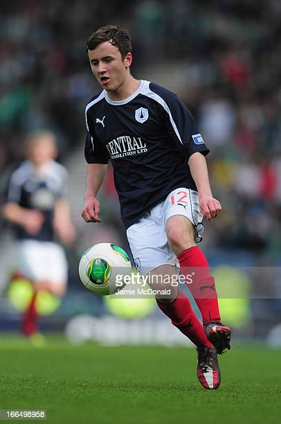 Thomas Grant of Falkirk in action during The William Hill Scottish Cup Semi Final between Falkirk and Hibernian at Hampden Park on April 13 2013 in...