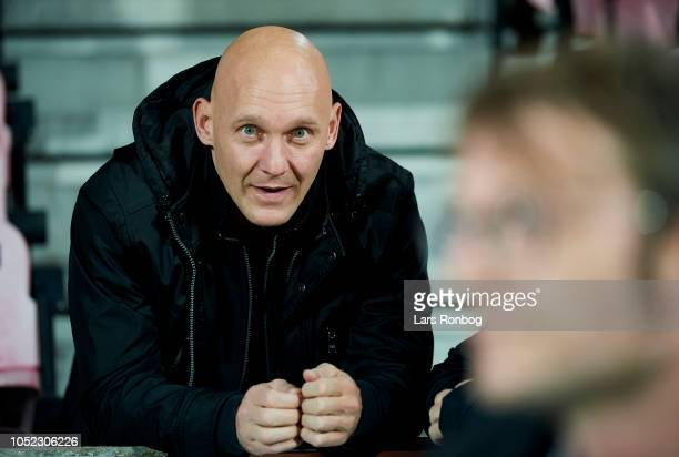 Thomas Gravesen looks on prior to the international friendly match between Denmark and Austria at MCH Arena on October 16, 2018 in Herning, Denmark.