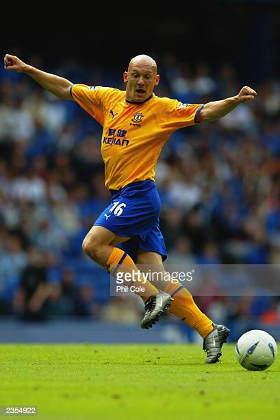 Thomas Graveson of Everton passes the ball during the PreSeason Friendly match between Glasgow Rangers and Everton held on July 26 2003 at Ibrox...