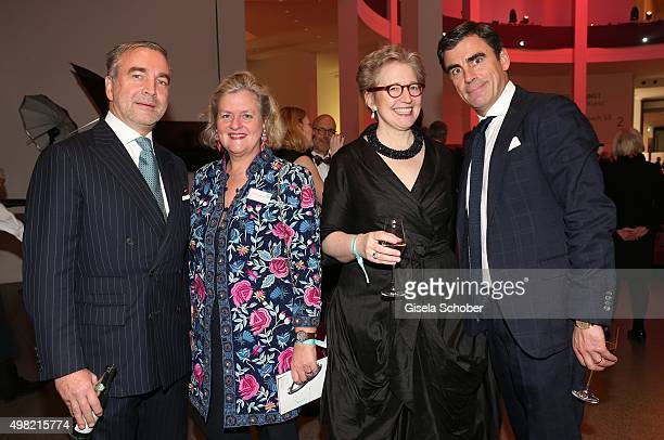 Thomas Greinwald Christine Graefin von Rantzau Marie Christine Graefin von Huyn and Andreas Rumbler Christie's during the PIN Party 4 Art at...