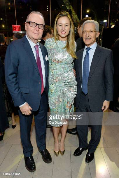 Thomas H Lee Anna Nikolayevsky and Joshua Friedman attend the Lincoln Center Fall Gala Honoring John E Waldron on November 06 2019 in New York City