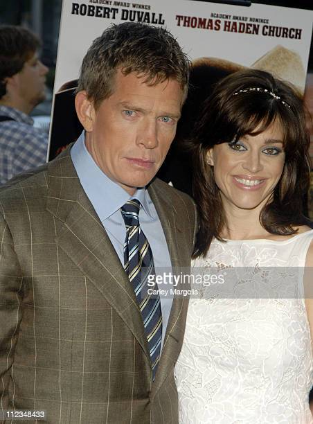 Thomas Haden Church and guest during 'Broken Trail' New York Premiere at Loews Lincoln Square in New York City New York United States