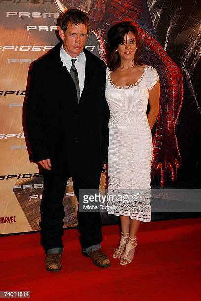 Thomas Haden Church and his wife Mia Zottoli attend the premiere of Spider-Man 3 at the Grand Rex April 27, 2007 in Paris, France.