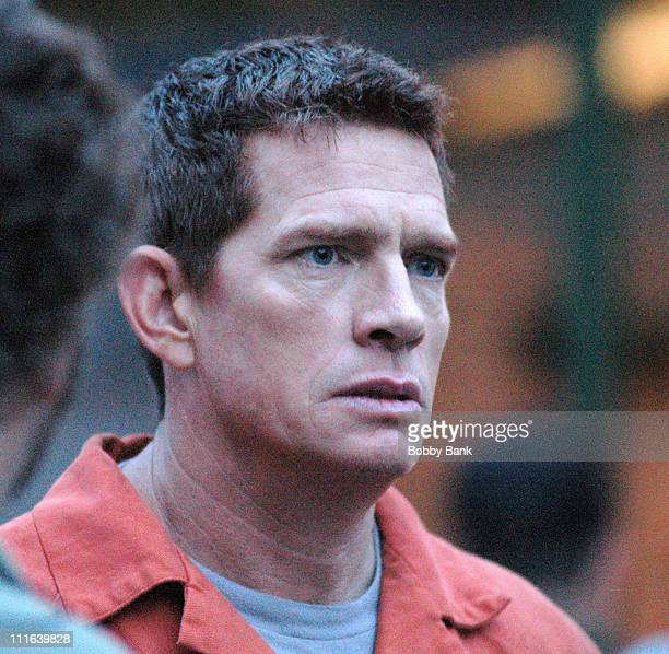 Thomas Haden Church during 'SpiderMan 3' on Location in Brooklyn New York June 26 2006 at Streets of Brooklyn in New York City New York United States