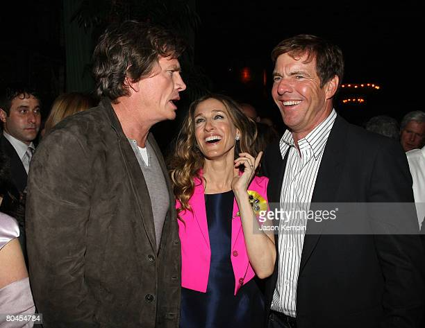 """Thomas Haden Church, Sarah Jessica Parker and Dennis Quaid attend The Cinema Society and Linda Wells after party of """"Smart People"""" at the Bowery..."""