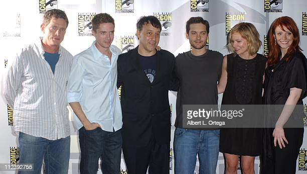 Thomas Haden Church Topher Grace director Sam Raimi Tobey Maguire Kirsten Dunst and Bryce Dallas Howard