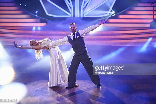 Thomas Haessler and Regina Luca attend the 1st show of the television competition 'Let's Dance' on March 11 2016 in Cologne Germany