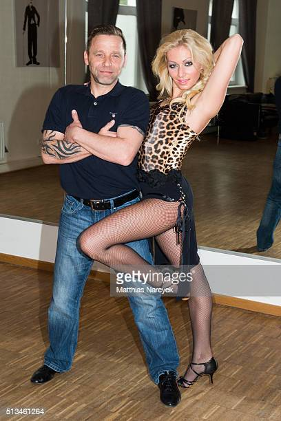 Thomas Haessler and Regina Luca pose at a photo call for the television competition 'Let's Dance' on March 3 2016 in DallgauDoeberitz Germany On...