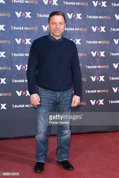 Thomas Haessler attends a photo call for the new tv show 'Ewige Helden' on December 2 2015 in Cologne Germany