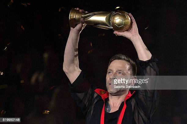 Thomas Haessler performs on stage during the 4th show of the television competition 'Let's Dance' at Coloneum on April 8 2016 in Cologne Germany