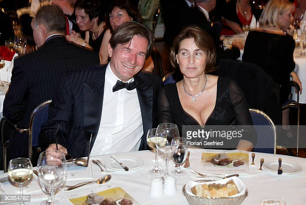Thomas Haffa and his wife Gabriele attend the 'UNICEFGala' at Park Hotel on September 5 2009 in Bremen Germany