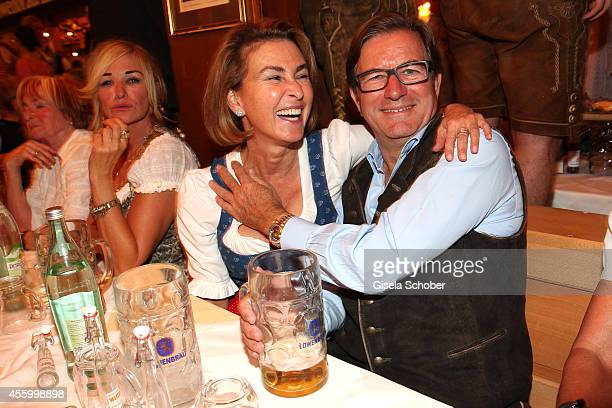 Thomas Haffa and his wife Gabriele during Oktoberfest at Schuetzenzelt Theresienwiese on September 23 2014 in Munich Germany