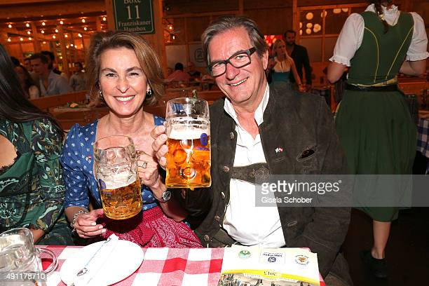 Thomas Haffa and his wife Gabriele Haffa during the Oktoberfest 2015 at Theresienwiese on Oktober 03 2015 in Munich Germany