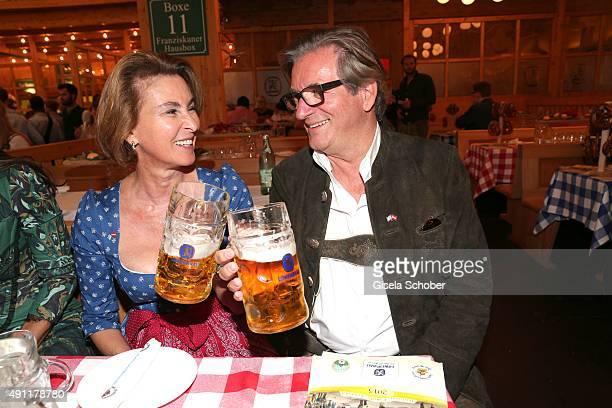 Thomas Haffa and his wife Gabriele Haffa during the Oktoberfest 2015 at Schuetzenfestzelt / Theresienwiese on Oktober 03 2015 in Munich Germany