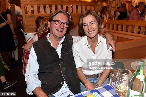 Thomas Haffa and his wife Gabriele Haffa during the Oktoberfest 2016 at Schuetzenfestzelt / Theresienwiese on September 30 2016 in Munich Germany