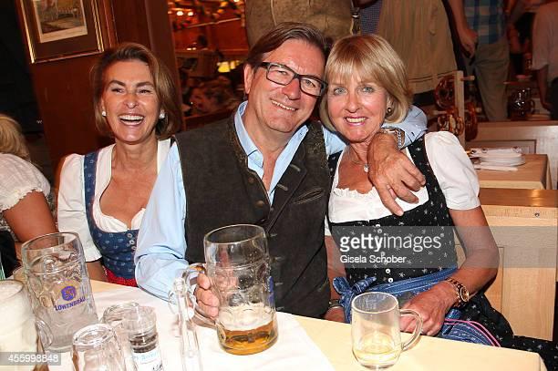 Thomas Haffa and his wife Gabriele Monika Lacher during Oktoberfest at Schuetzenzelt Theresienwiese on September 23 2014 in Munich Germany
