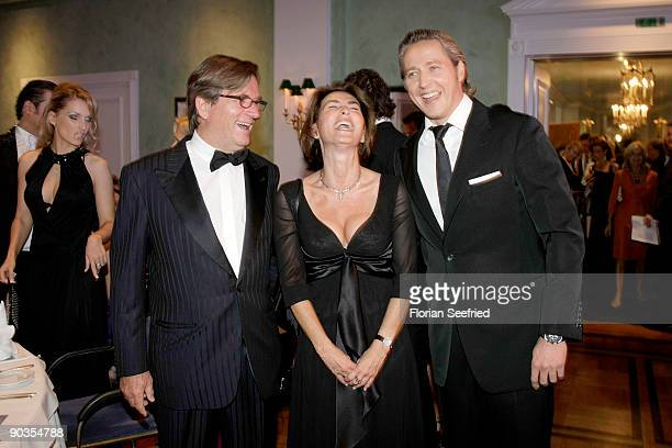 Thomas Haffa and wife Gabriele and Franjo Pooth attend the 'UNICEFGala' at Park Hotel on September 5 2009 in Bremen Germany