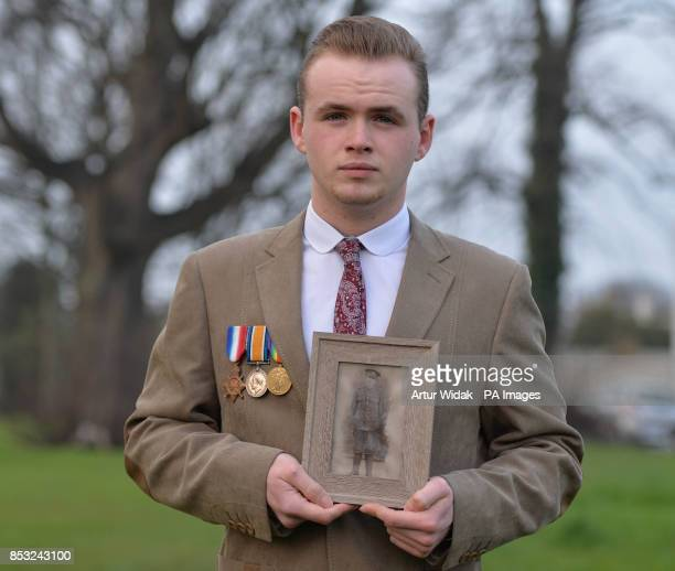 Thomas Halpin with a photo of relative Lance Corporal Patrick Broderick killed in 1917 in Ypres as family of Irish war dead and campaigners seek to...