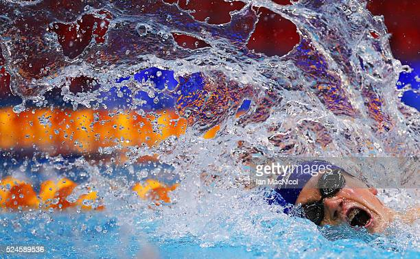 Thomas Hamer of Great Britain Competes in the final of the Men's MC 200m Freestyle during Day Four of British Para-Swimming International Meet at...