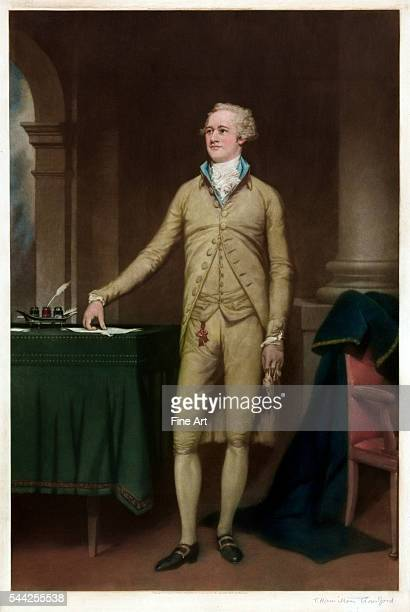 Thomas Hamilton Crawford FullLength Portrait of Alexander Hamilton published by Frost Reed color mezzotint