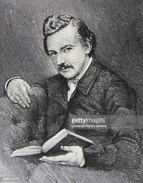 Thomas Hardy English novelist and poet Hardy aged 21 Engraving Photo by
