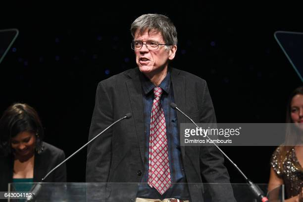Thomas Harris speaks onstage during 69th Writers Guild Awards New York Ceremony at Edison Ballroom on February 19 2017 in New York City