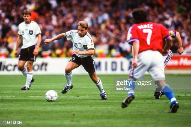 Thomas Hassler of Germany during the European Championship final match between Germany and Czech Republic at Wembley Stadium Londres England on 30...