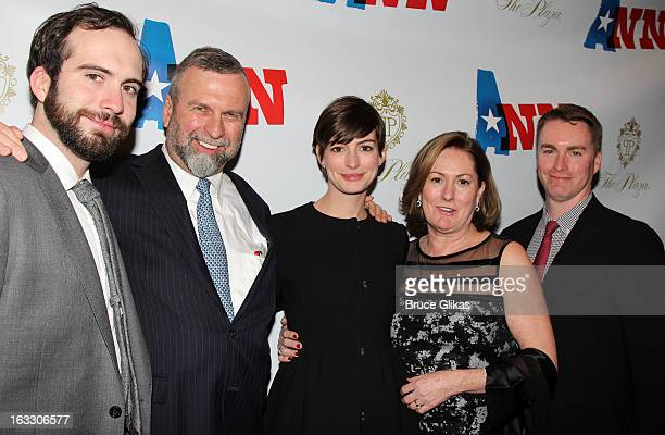 Thomas Hathaway Gerald Hathaway Anne Hathaway Kate McCauley Hathaway and Michael Hathaway attend the opening night of Ann at Vivian Beaumont Theatre...