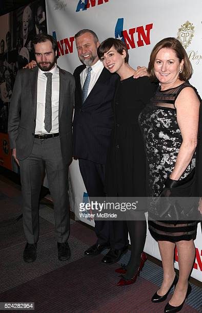 Thomas Hathaway Gerald Hathaway Anne Hathaway Kate McCauley Hathaway attending the Opening Night Performance of 'Ann' starring Holland Taylor at the...