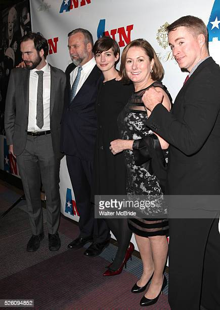 Thomas Hathaway Gerald Hathaway Anne Hathaway Kate McCauley Hathaway and Michael Hathaway attending the Opening Night Performance of 'Ann' starring...