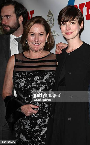 Thomas Hathaway Kate McCauley Hathaway Anne Hathaway attending the Opening Night Performance of 'Ann' starring Holland Taylor at the Vivian Beaumont...