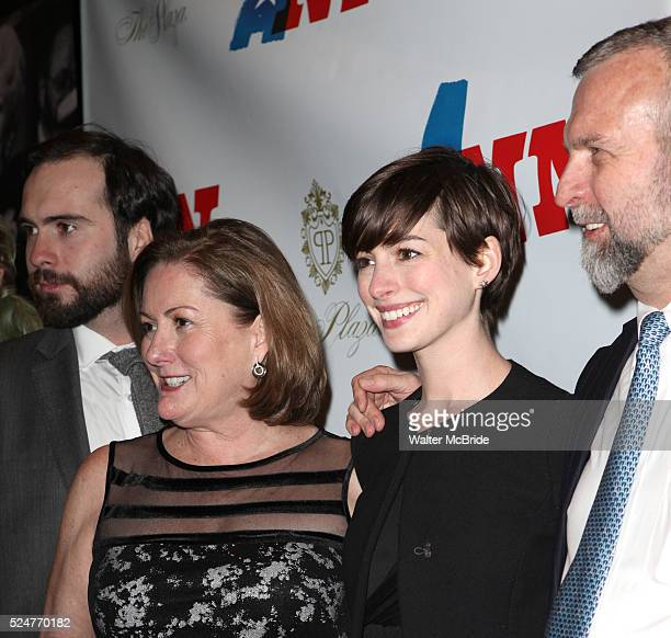 Thomas Hathaway Kate McCauley Hathaway Anne Hathaway Gerald Hathaway attending the Opening Night Performance of 'Ann' starring Holland Taylor at the...