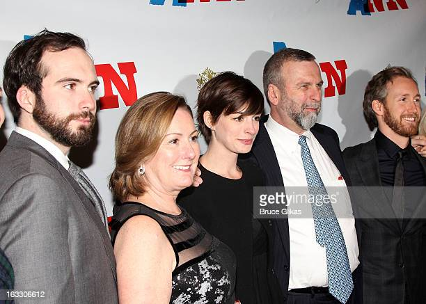 Thomas Hathaway producer Kate McCauley Hathaway daughter Anne Hathaway Gerald Hathaway and Adam Shulman attend the opening night of Ann at Vivian...