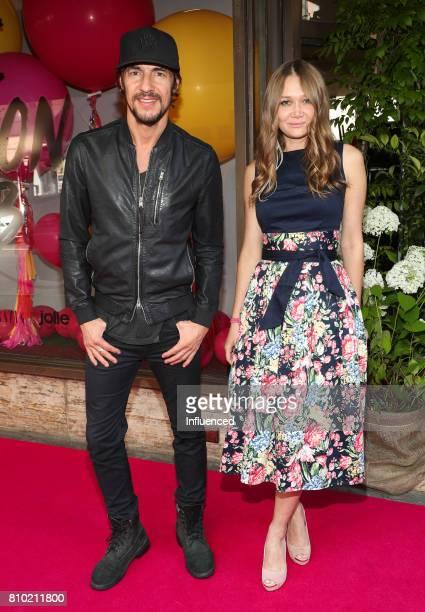 Thomas Hayo and fashion designer Ilona Matsour attend the Gala Fashion Brunch Ellington Hotel on July 7 2017 in Berlin Germany