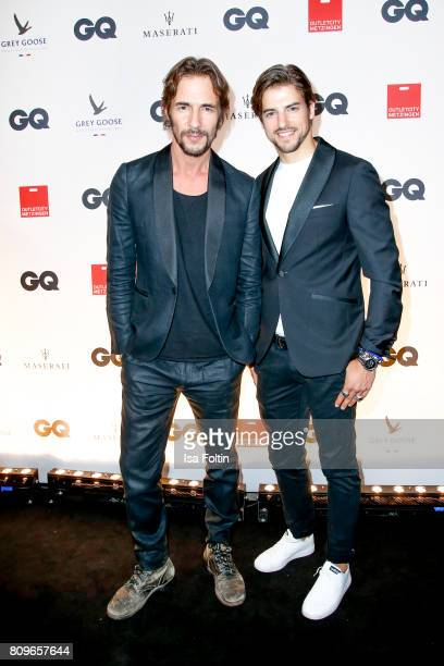 Thomas Hayo and Florian Molzahn attend the GQ Mension Style Party 2017 at Austernbank on July 5 2017 in Berlin Germany