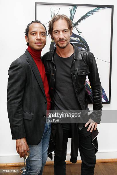 Thomas Hayo and guest at 'Der Berliner Fotografie Salon Edition 1' on April 29 2016 in Berlin Germany
