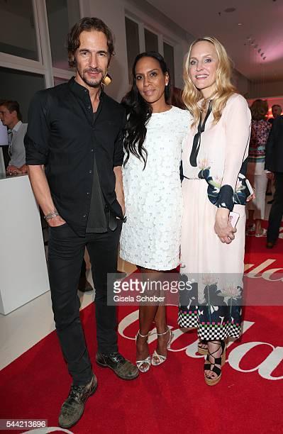 Thomas Hayo Barbara Becker and Anne MeyerMinnemann attend the 'Gala' fashion brunch during the MercedesBenz Fashion Week Berlin Spring/Summer 2017 at...
