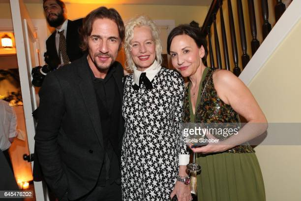 Thomas Hayo GNTM and Photographer Ellen von Unwerth and Petra Pfaller BUNTE during the Bulgari PreOscars party at hotel Chateau Marmont on February...