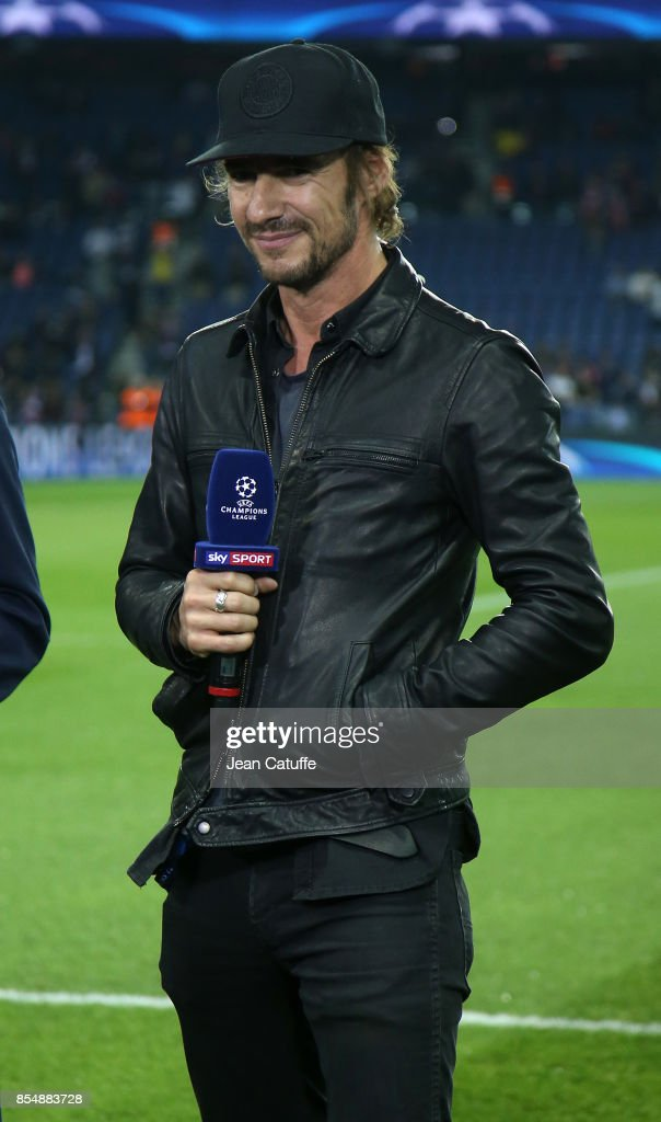 Thomas Hayo is interviewed by SkySport before the UEFA Champions League group B match between Paris Saint-Germain (PSG) and Bayern Muenchen (Bayern Munich) at Parc des Princes on September 27, 2017 in Paris, France.