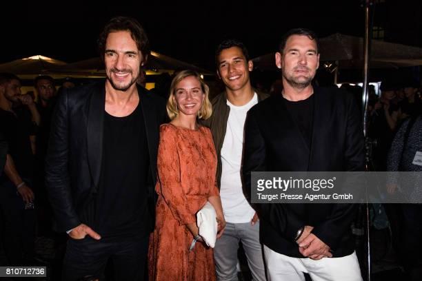 Thomas Hayo Nadeshda Brennicke her son Nikita Brennicke and Michael Michalsky attend the MICHALSKY StyleNite during the MercedesBenz Fashion Week...