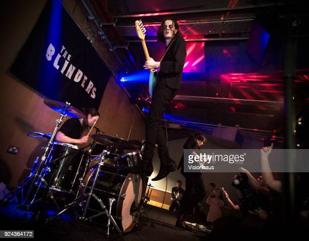 Thomas Haywood lead singer with The Blinders Performs with the band at the Brudenell Social Club on February 23 2017 in Leeds England