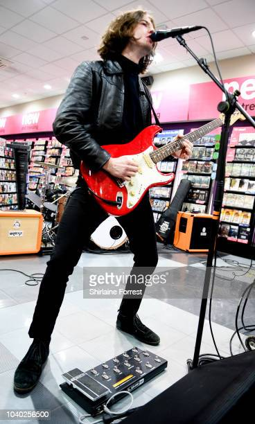 Thomas Haywood of The Blinders performs live and signs copies of their album 'Columbia' at HMV Doncaster on September 25 2018 in Doncaster England
